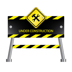 Under construction icon, isolated on white background, vector illustration.