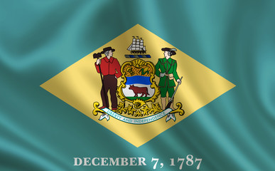 """Flag of the state Delaware. A series of """"flags of the United States of America"""" (The country - United States of America. USA)"""