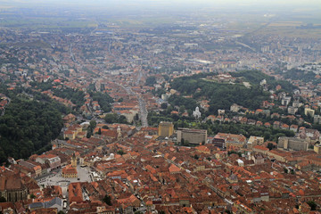 View from the top of Tampa mountain over Brasov city