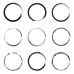 Grunge circle frame set