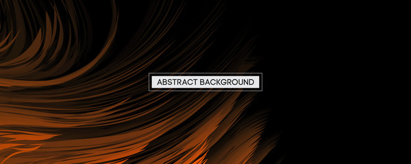 Orange And Black Background Abstract