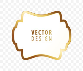 High Quality Luxury Frame on Transparent Background . Vector Isolated Illustration