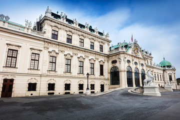 Entrance to the palace at upper Belvedere side. Vienna