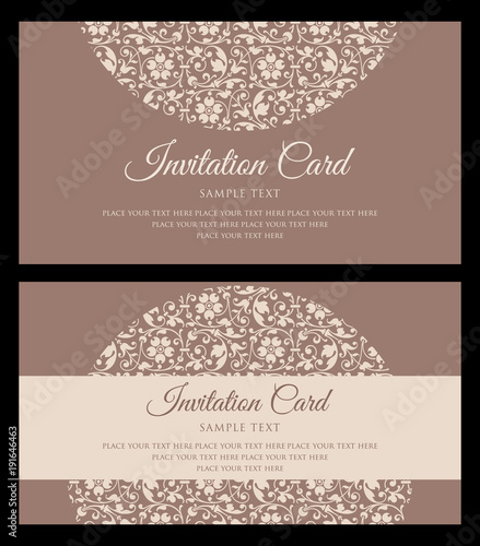 Invitation Card Design Vintage Style Stock Image And