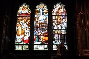 教会のステンドグラス。