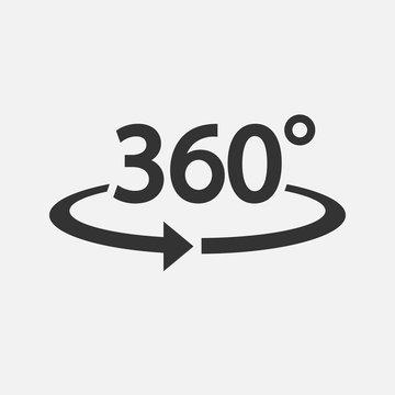 360 Icon. Vector illustration.