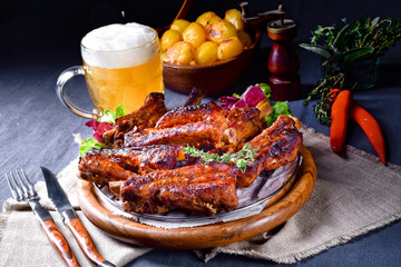 Delightful BBQ Spareribs from the Smoker