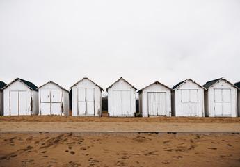 White bathing beach houses