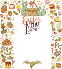 Easter menu card