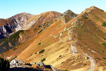 Poland, Tatra Mountains, Zakopane - Rozpadla Valley, Krzesanica, Malolaczniak and Goryczkowa Czuba peaks - Czerwone Wierchy peaks