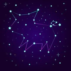Fantasy constellation of a pig