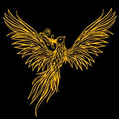 Tribal Phoenix vector illustration