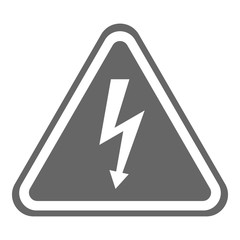 HIGH VOLTAGE  danger sign in triangle. Vector icon.