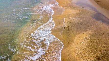 vue aérienne de la plage