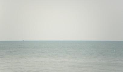 Sea with fog