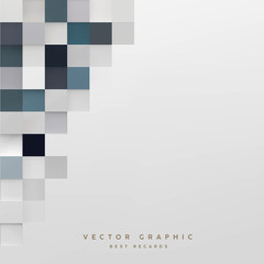 Abstract cubic background. Geometric Minimalistic cover design. Vector graphic.