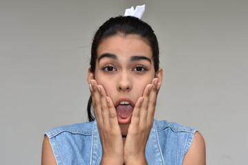Shocked Cute Female