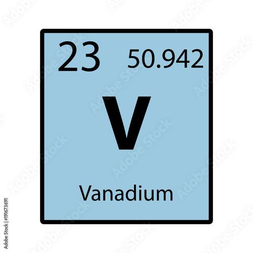 Vanadium periodic table element color icon on white background vanadium periodic table element color icon on white background vector urtaz Choice Image