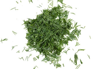Dill chopped top view