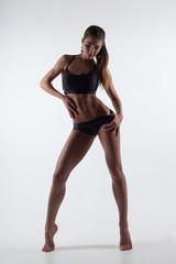 Beautiful sexy woman sport perfect body back