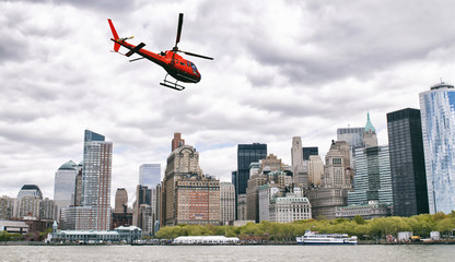 Helicopter tour in New York City