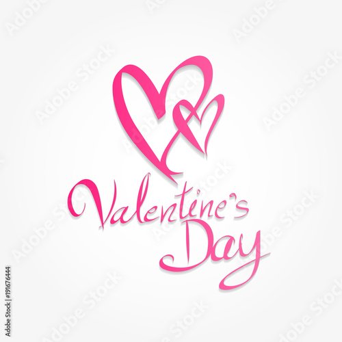 Valentine S Day Hand Drawn Brush Lettering Banner Vector
