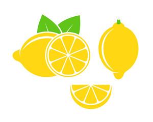 Lemon logo. Isolated lemon on white background