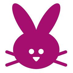 cute bunny head icon