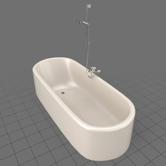 Rounded bathtub