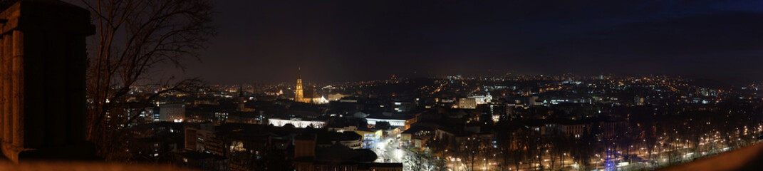 Cluj-Napoca Romania at night