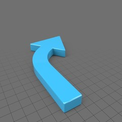 Thin curved right arrow