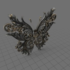 Ornate decorative butterfly