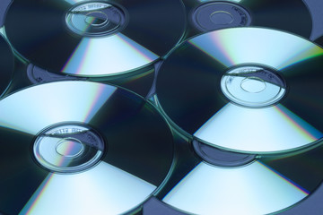 Reflection patterns on Compact Discs
