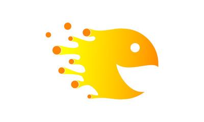 Orange Cartoon Illustration logo