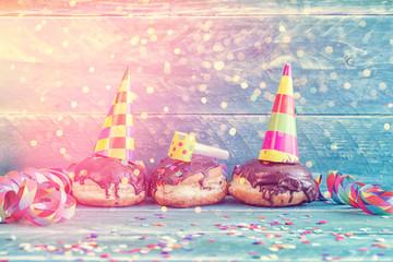 Pfannkuchen donuts party
