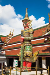 Wat Phra Kaeo, Temple of the Emerald Buddha in Bangkok, Thailand.