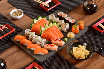 Japanese food table