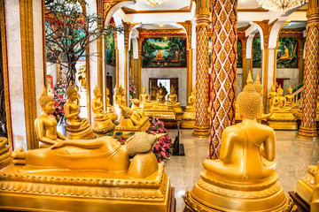 Wat Chaitharam or Wat Chalong temple in Phuket city, Thailand.