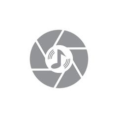 Music Camera Logo Icon Design