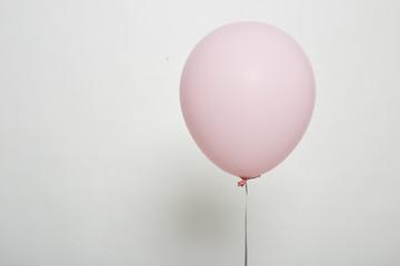 White Balloon Floating on white