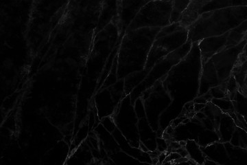 Abstract black marble surface background.