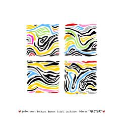 얼룩말 무늬 / 손으로 그린 지브라 패턴
