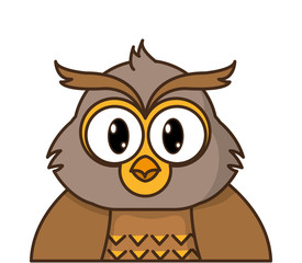 adorable owl cute animal character