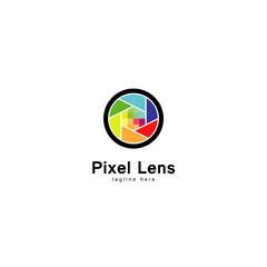 Pixel Lens Logo, Photograph Icon