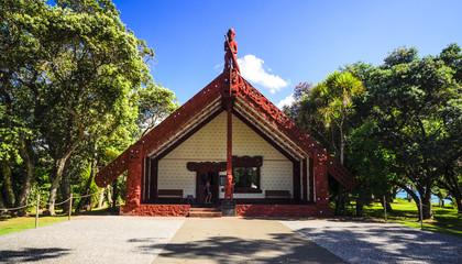 Traditional Maori House in Waitangi