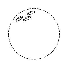 bowling ball game sport equipment vector illustration sticker design image