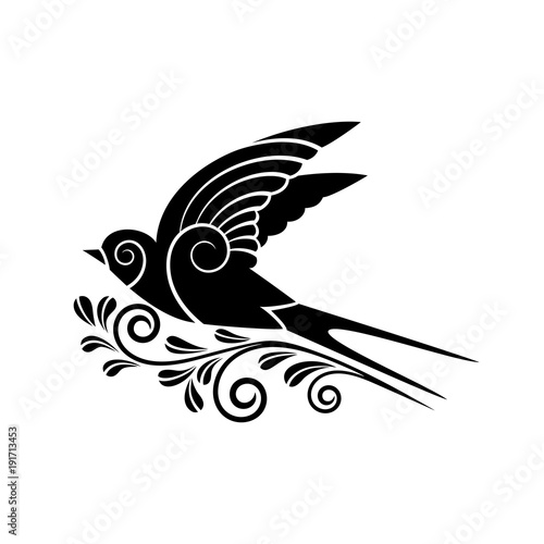 Black Swallow Silhouette Stock Image And Royalty Free Vector Files
