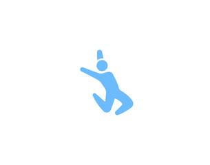 Dance icon, human dancing symbol