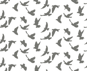 seamless background, pattern flying birds