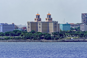 Hotel Nacional de Cuba from the Caribbean